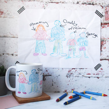Personalised Children's Drawing Mug