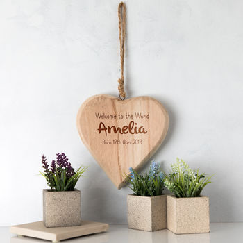 Personalised Welcome To The World Heart Sign