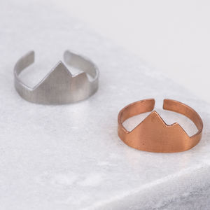 Metal Mountain Ring - rings