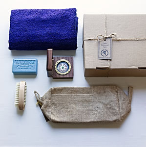 'Poseidon' Navy Compass Men's Grooming Gift Set - men's grooming & toiletries