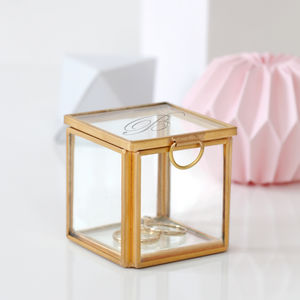 Personalised Mini Cube Jewellery Box - goddess collection