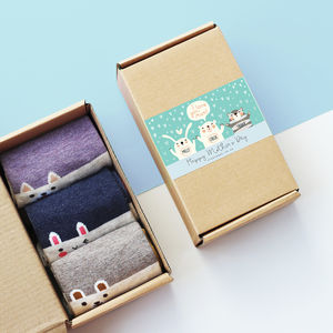 Personalised Mother's Day Sock Box - gifts from younger children