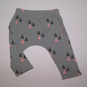 Baby Girl Leggings, Grey And Pink