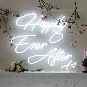 Happily Ever After LED Neon Wedding Sign - lighting