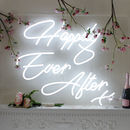 Happily Ever After LED Neon Wedding Sign