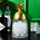 Gold Pineapple Glass Ice Bucket