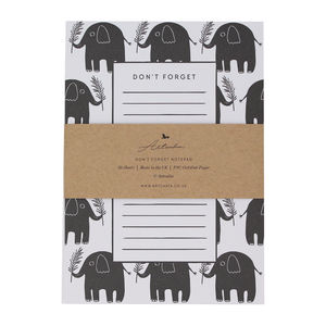 Don't Forget Elephant A5 Notepad - writing