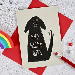Dog Themed Personalised Birthday Card