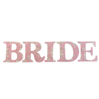 Liberty Print Bride Iron On Letters In Thirty Prints
