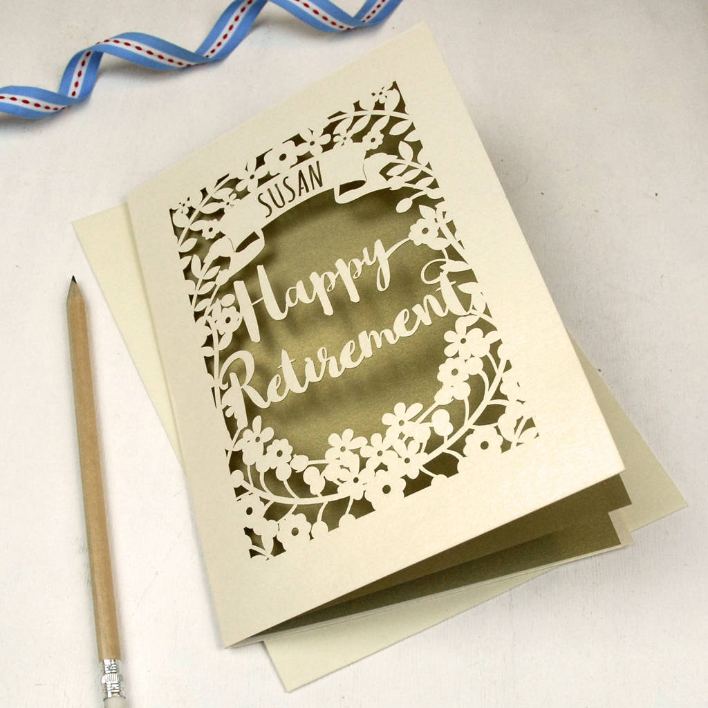 Personalised papercut retirement card by pogofandango personalised papercut retirement card m4hsunfo