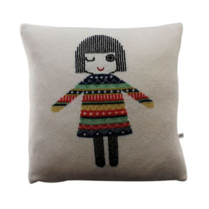 Lambswool Dolly Cushion - cushions