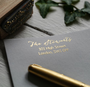 Calligraphy Address Stamp - wedding stationery