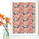 Red And Teal Coral And Starfish Pattern Print
