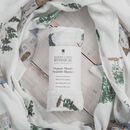 Bamboo Baby Swaddle Blanket, House Print
