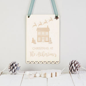 Christmas Decoration Personalised Wooden Sign - christmas decorations