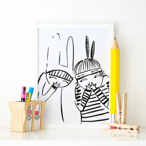 Little Gigglers Illustration Children's Print