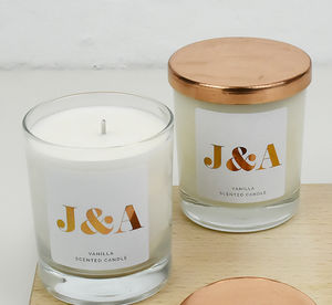Couples Monogram Personalised Scented Candle - sale by category