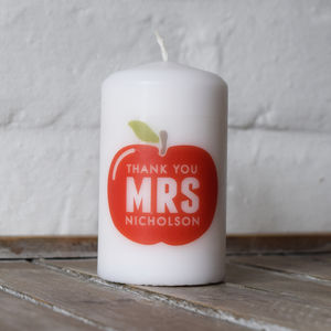 Personalised Thank You Teacher Candle - candles & home fragrance