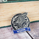 Wise Eagle Enamel Pin