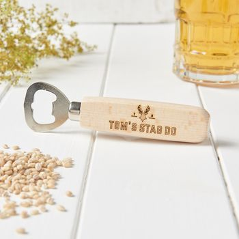 Personalised Stag Do Bottle Opener