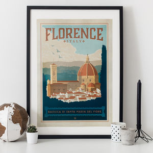 Florence Travel Print - travel-inspired wedding gifts