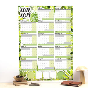 Large Botanical Academic Calendar And Year Planner 2018 - children's pictures & prints