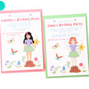 Personalised Fairy Party Invitations
