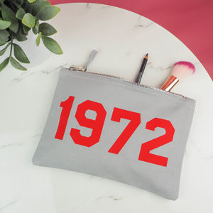 Personalised 'Year' Make Up Bag - make-up & wash bags