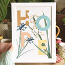 Rainbow Hope Language Of Flowers Print