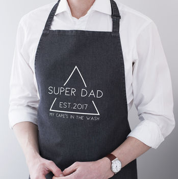 Personalised 'Dad's Cape' Apron
