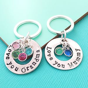 Birthstone Keyring - personalised mother's day gifts