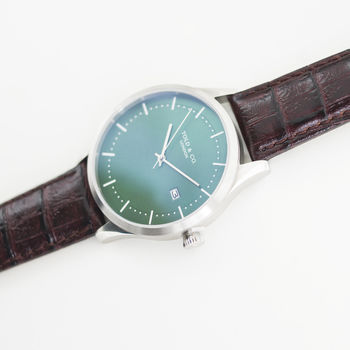 'Richmond' Green And Silver Watch
