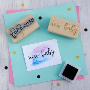New Baby Rubber Stamp