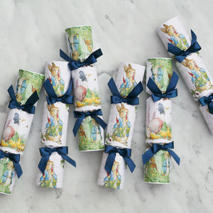 Six Luxury Peter Rabbit Easter Crackers