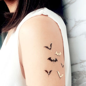 Halloween Bats Temporary Tattoo - fancy dress