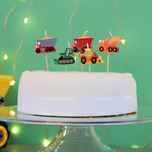 Digger Themed Birthday Cake Party Candles