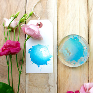 Watercolour Splash Splat Clear Rubber Stamp - wedding favours