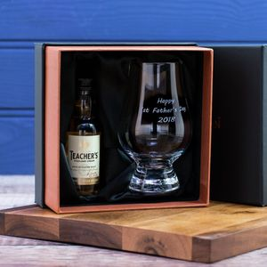 Personalised Whisky Glass And Whisky Taster - whisky