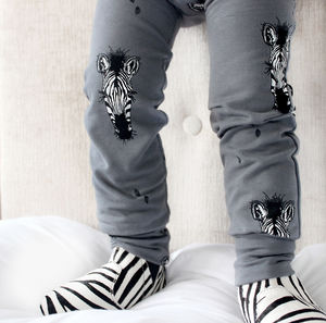 Zebra Print Winter Warmer Leggings