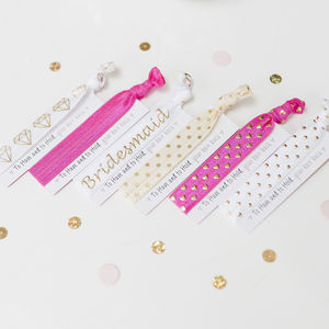 Hen Party Favour Hair Tie - hen party styling