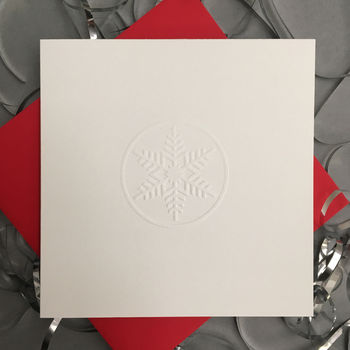 Hand Embossed Snowflake Christmas Cards