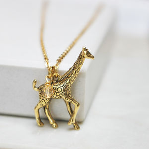 Giraffe Charm Necklace - jewellery sale