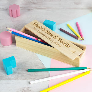 Personalised Wood Pencil Case