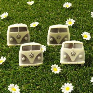 Four Chocolate Campervans