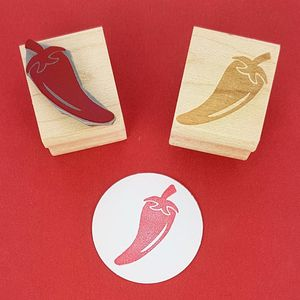 Little Chili Pepper Rubber Stamp - diy & craft