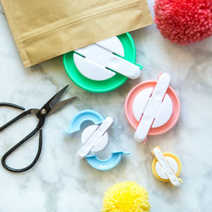 Pom Pom Maker Set Of Four - gifts for teenagers