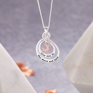 Love You To The Moon And Back Pendant Necklace - jewellery
