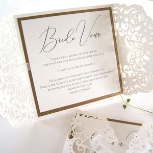 Wedding Vow Laser Cut Booklets - order of service & programs