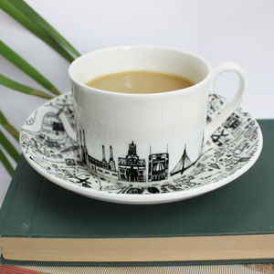 South West London Teacup And Saucer Set