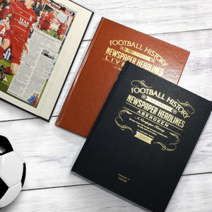 Personalised Football Team History Book - gifts for fathers